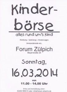 Kinderbörse am 16.03.2014